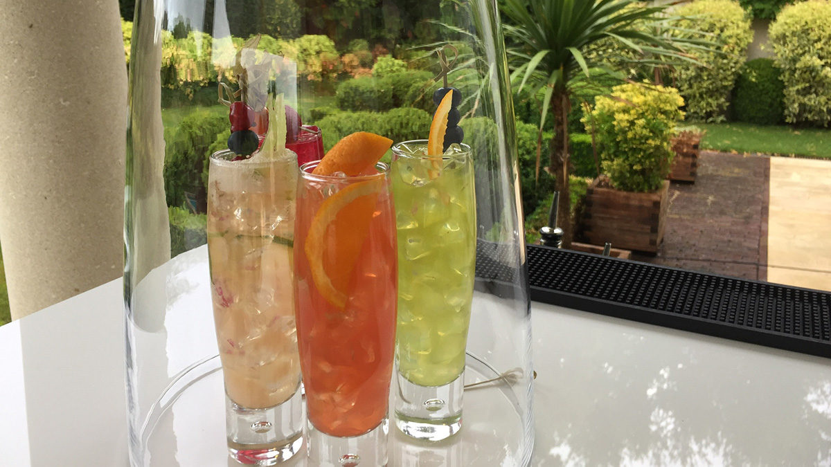 Easyflair cocktails presented in an original way